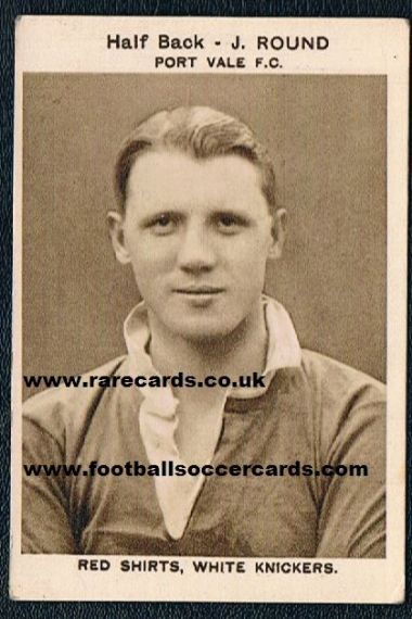 1933 J. Round Port Vale Oh Boy Gum card